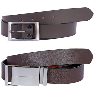 Hardys Brown Leatherite Belt For Men (Synthetic leather/Rexine)