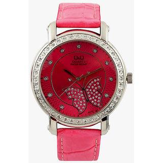 Q&Q Women Pink Dial Watch 302