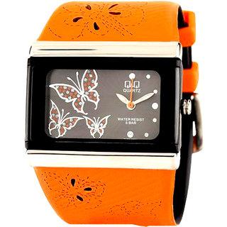Q&Q Orange/Black Analog Watch GV79