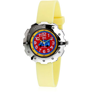 Q&Q Analog Watch - For Boys, Girls (Yellow) Q765J315Y