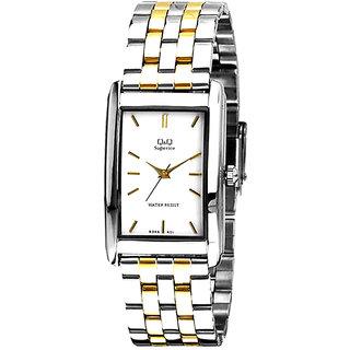Q&Q Superior Series T Tone/White Analog Watch-R346-401Y