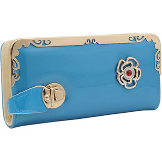 Trendy Blue Colour Designer Wallet For Women