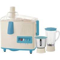 Quba Jm75 500 W Juicer Mixer Grinder  (White, Blue, 2 Jars)