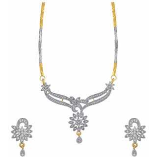 Jewels Galaxy Sunshine Precious American Diamond Mangalsutra Set