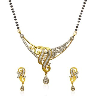 Jewels Galaxy Incredibly Designed American Diamond Mangalsutra Set