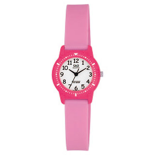 Q&Q White dial Analog Watch - For Girls (Pink)