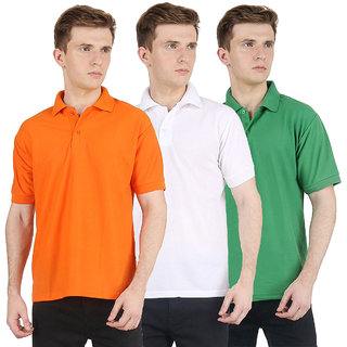 Van Galis Fashion Wear Multi Color Cotton Polo T-Shirts For Men- Pack Of -3