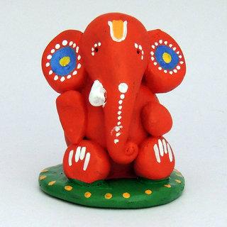 Terracotta Handpainted Ganesha Idol