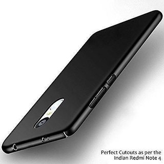 iPAKY Sleek Rubberised Matte black Hard Case Back Cover For  NOTE 4