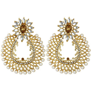 Angel In You Exclusive Golden White Earring Set / S 4039