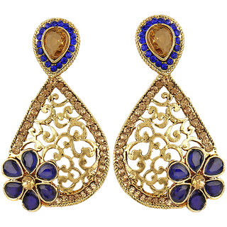 Angel In You Exclusive Golden Blue White Earring Set / S 4042