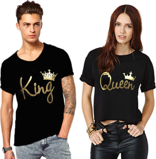 King And Queen Couple Combo Cotton Tees