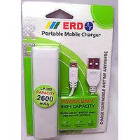 ERD 2600 Mah High Capacity Portable Power Bank For Mobile Phone