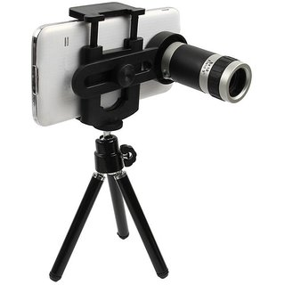 Universal 8X Zoom Telescope Camera Lens + Stand Tripod Holder for Mobile Phone