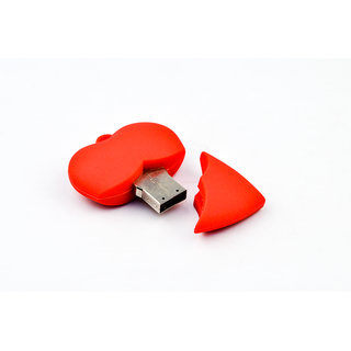 Microware Usb 2.0 4Gb Heart Shape Pen Drive JKL52