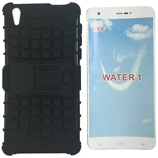 buy online 60441 b516e Reliance Jio LYF Water 1 Defender Hybrid with Stand Back Cover Case