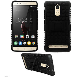 Lenovo Vibe K5 Note DEFENDER BACK COVER Armor black case with kickstand