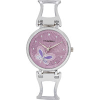 Invaders Round Dial Purple Analog Watch-INV-BFLY-SCPPL-
