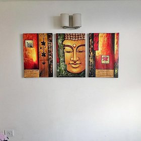 Handmade Painting of Buddha on canvas