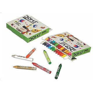 DOMS WAX CRAYONS 24 SHADES Pack of 5