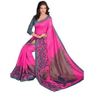 Sharda Creation Multicolour Bhagalpuri Silk Saree