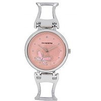 Invaders Round Dial Pink Analog Watch-INV-BFLY-SCPNK-67