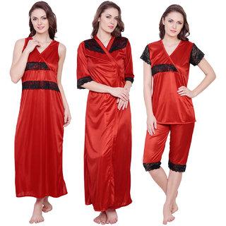3beae5269f Buy Claura Women s Nighty with Robe