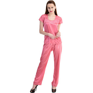 Claura Women's Printed  Top & Pyjama Set