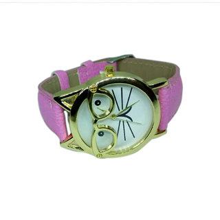 d9e47cda87d Fap Analog Cat Design Pink Colour Womens Watch Ladies Watch Girls Watch