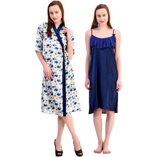 83200f684e Buy Claura Women s Satin Nighty with Robe Online - Get 56% Off