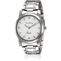 Invaders Round Dial Silver Analog Watch-INV-ARNA-SLV