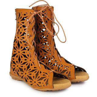 Do Bhai Women's Tan Sandals