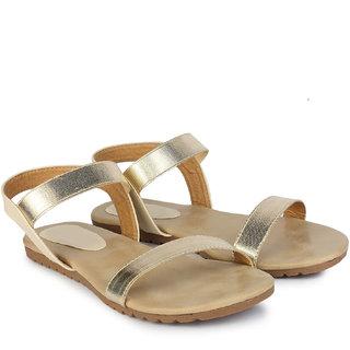Do Bhai Women's Gold Sandals