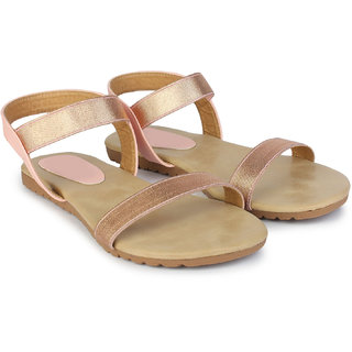 Do Bhai Women's Pink Sandals