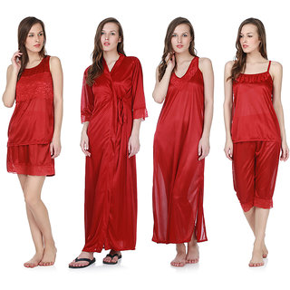 Buy Claura Women s Nighty with Robe 3161d860f