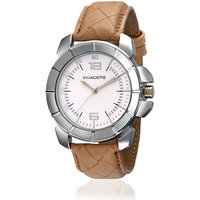 Invaders Round Dial White Analog Watch-INV-BRVD-WHT