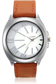 Invaders Round Dial White Analog Watch-INV-MLVN-TAN