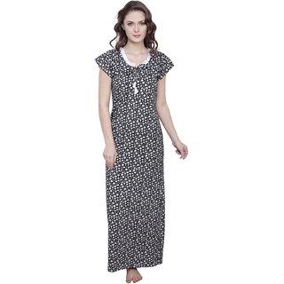 Buy Claura Women s Floral Print Long Nighty Online - Get 45% Off 817996aba