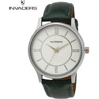 Invaders Round Dial White Analog Watch-INV-DANL-WHT