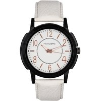 Invaders Round Dial White Analog Watch-INV-DEAN-WHT