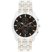 Invaders Round Dial Black Analog Watch-INV-EMPR-BKGLD-6