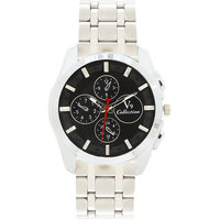 Invaders Round Dial Black Analog Watch-INV-EMPR-BKSLV-6