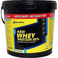 MuscleBlaze Raw Whey Protein, 8.8 lb Unflavoured