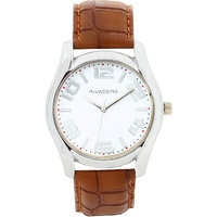 Invaders Round Dial White Analog Watch-INV-ETHR-SSWHT-6