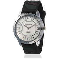 Invaders Round Dial White Analog Watch-INV-ARMY-MWHITE-
