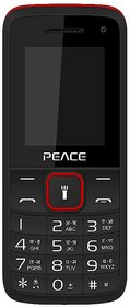Peace Knight (Dual Sim, 1.8 Inch Display, Selfie Camera, 850 Mah Battery, Black-Red)
