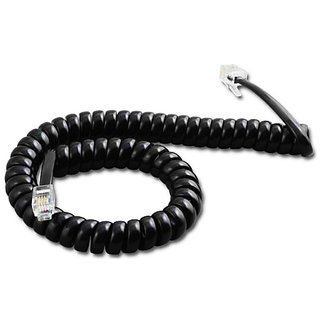 6.5FT Black Cable Wire Telephone Handset Phone Extension Cord Curly Coil Line RS