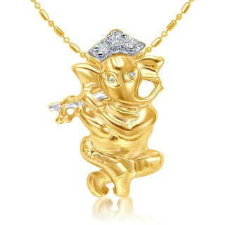 Sukkhi Cubic Zirconia Studded Ganesha Pendant With Chain (Design 2)