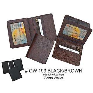 Mens Leather Wallet In Black  Brown