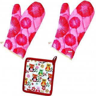 Bpitch 2 Gloves  1 Pot Holder (Heat Resistant,32cmX16cm,100CTN)